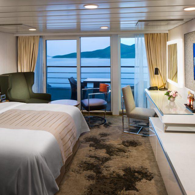Sydney Sparkles 2022 Club Continent Suite Club Continent Suite - Room #8066 Deck 8 Midship Portside.Azamara Journey - Azamara Club Cruises