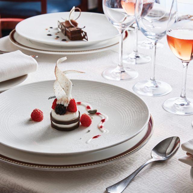 Luxury South Pacific Islands Cruise Dessert, The Restaurant, Silver Explorer