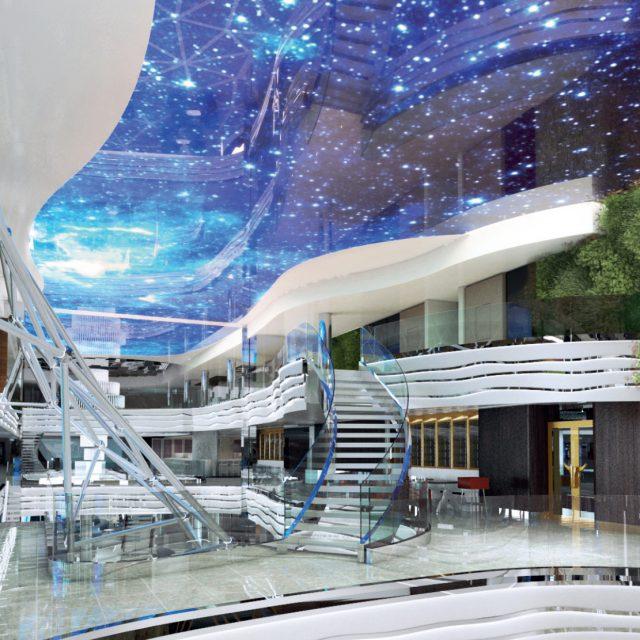 Arabian Nights to European Delights MSC World Europa, Indoor Promenade