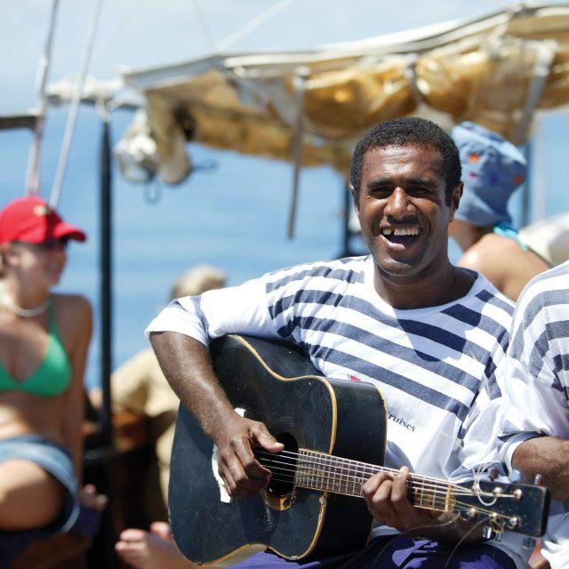 Sunset Dreams in Fiji Ramarama, Captain Cook Cruises, Fiji. Model released