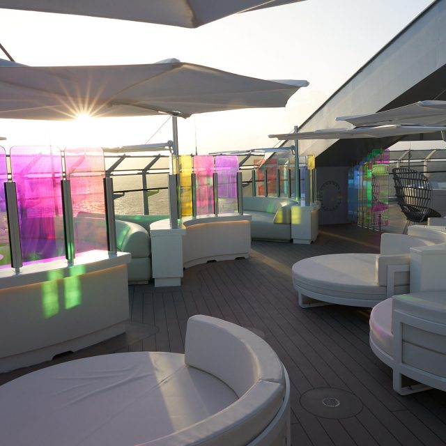 French Glamour & Sardinia Sights Richard's Rooftop, exclusive to RockStar Sailors, is a luxury outdoor space.
