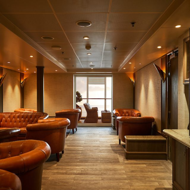 World Cruise with Silversea Interiors of the Connoisseur's Corner.
