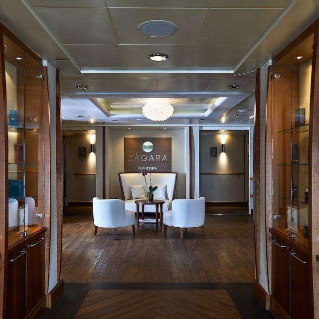 World Cruise with Silversea Entrance of the Zagara Beauty Spa.