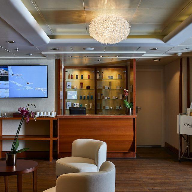 World Cruise with Silversea Reception of the Zagara Beauty Salon.