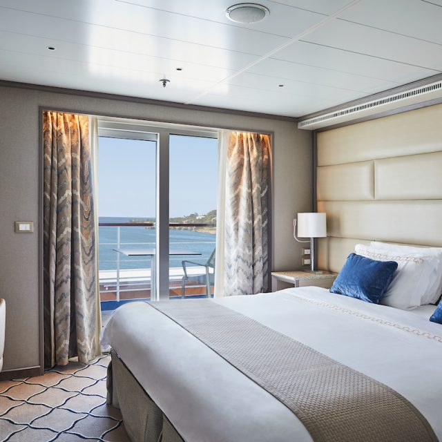 World Cruise with Silversea Bedroom of the Owner Suite, Silver Shadow