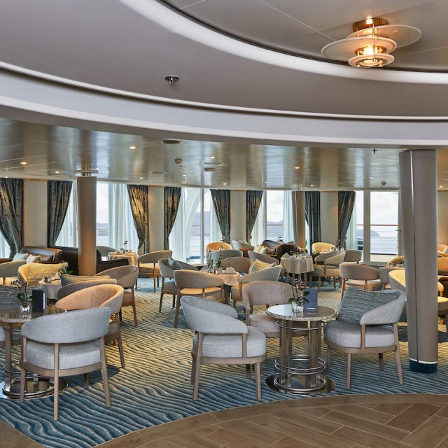 World Cruise with Silversea The indoor area of The Panorama Lounge