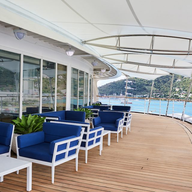 World Cruise with Silversea The outdoor area of The Panorama Lounge