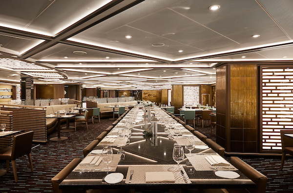 Australia & New Zealand with Silversea The Asian accented restaurant, Indochine. Silver Muse.